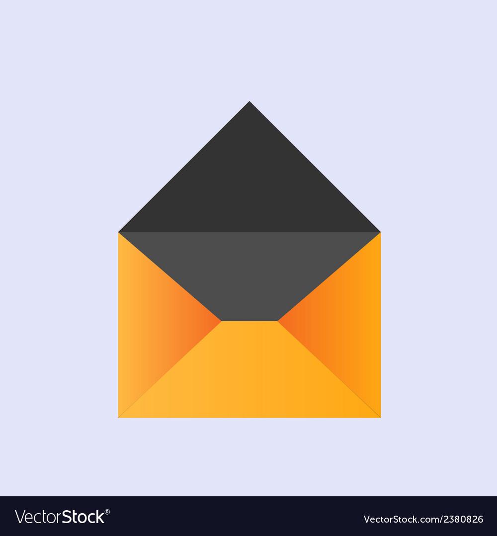 Yellow envelope icon eps10 vector | Price: 1 Credit (USD $1)