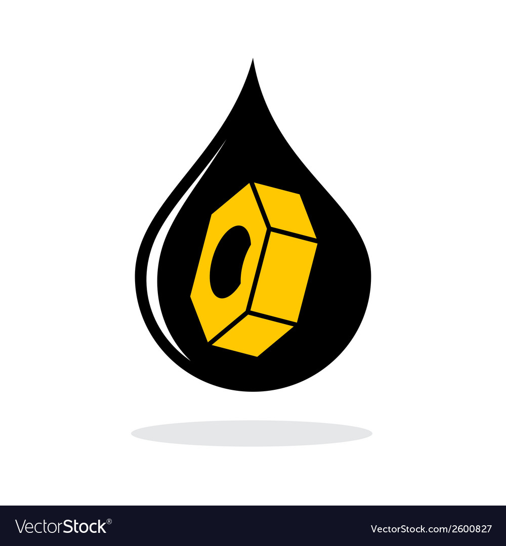 Abstract oil industry sign vector | Price: 1 Credit (USD $1)
