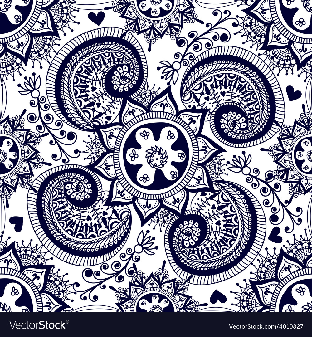 Abstract seamless gzhel pattern for fabric vector | Price: 1 Credit (USD $1)