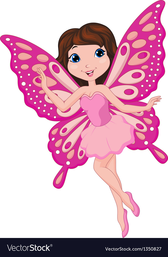 Cute fairy cartoon vector | Price: 1 Credit (USD $1)