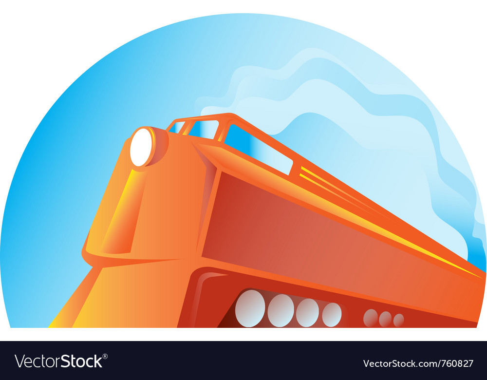 Diesel train vector | Price: 1 Credit (USD $1)
