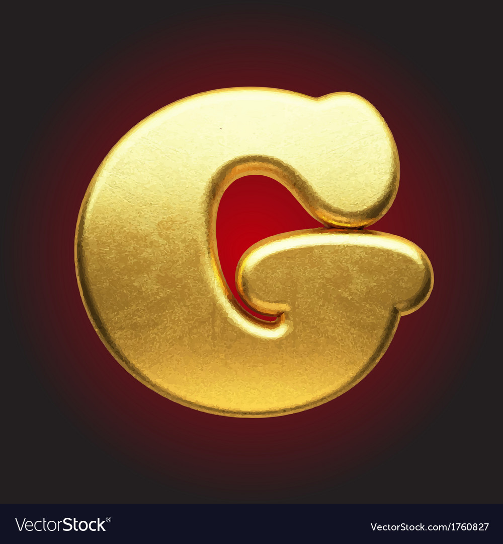Golden letter vector | Price: 1 Credit (USD $1)