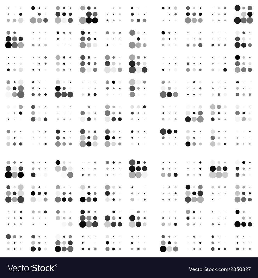 Grunge random halftones background vector   Price: 1 Credit (USD $1)