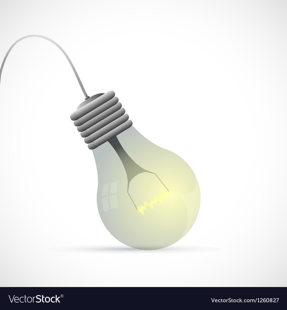 Lamp bulb cartoon vector | Price: 1 Credit (USD $1)