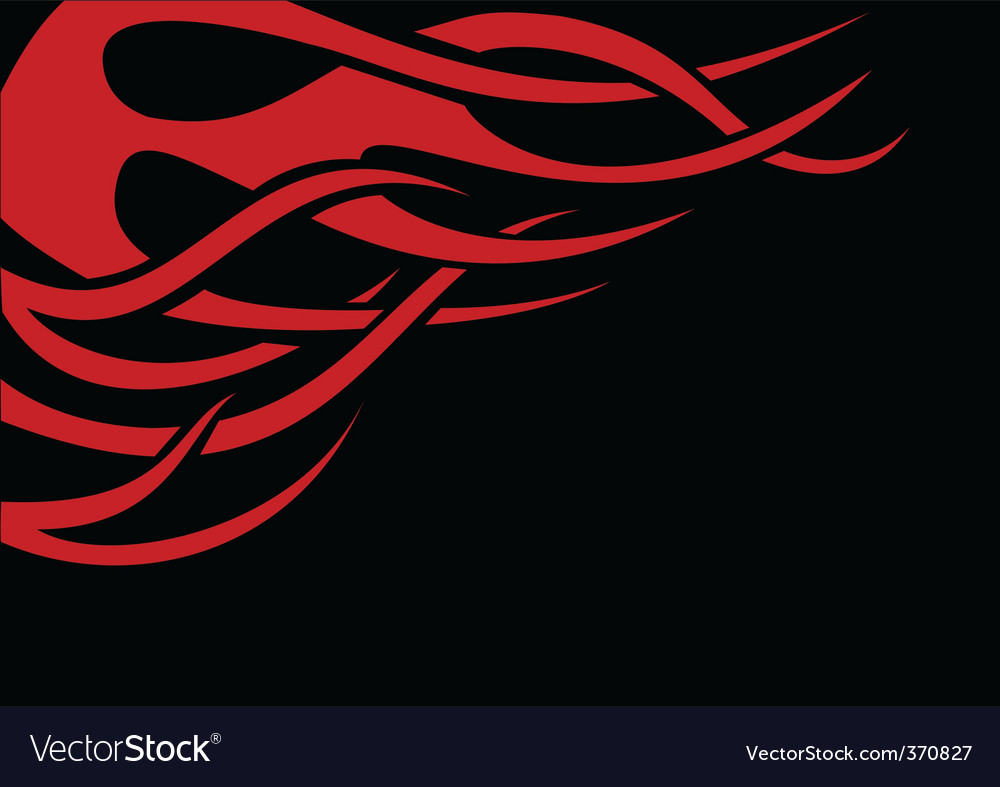 Red flame vector | Price: 1 Credit (USD $1)