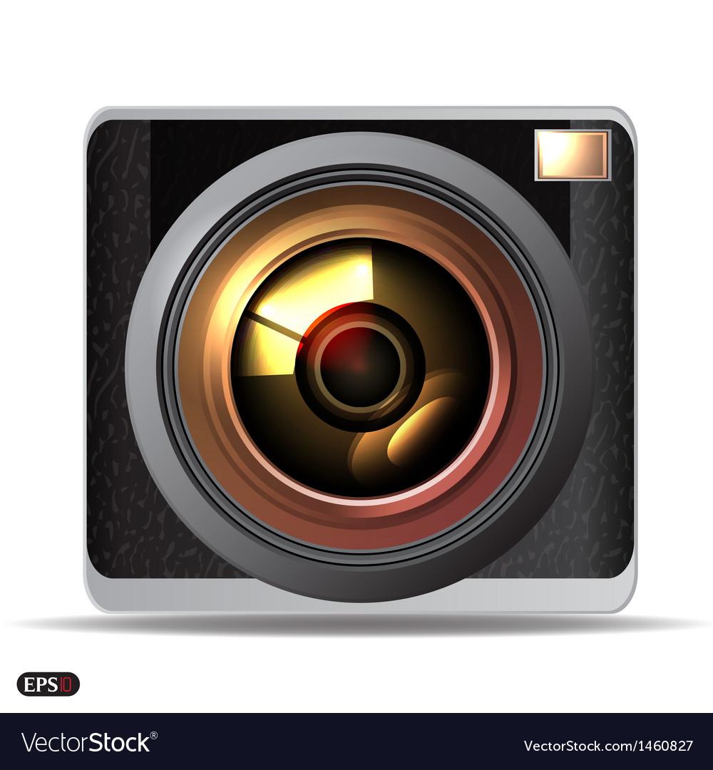 Retro camera vector | Price: 1 Credit (USD $1)