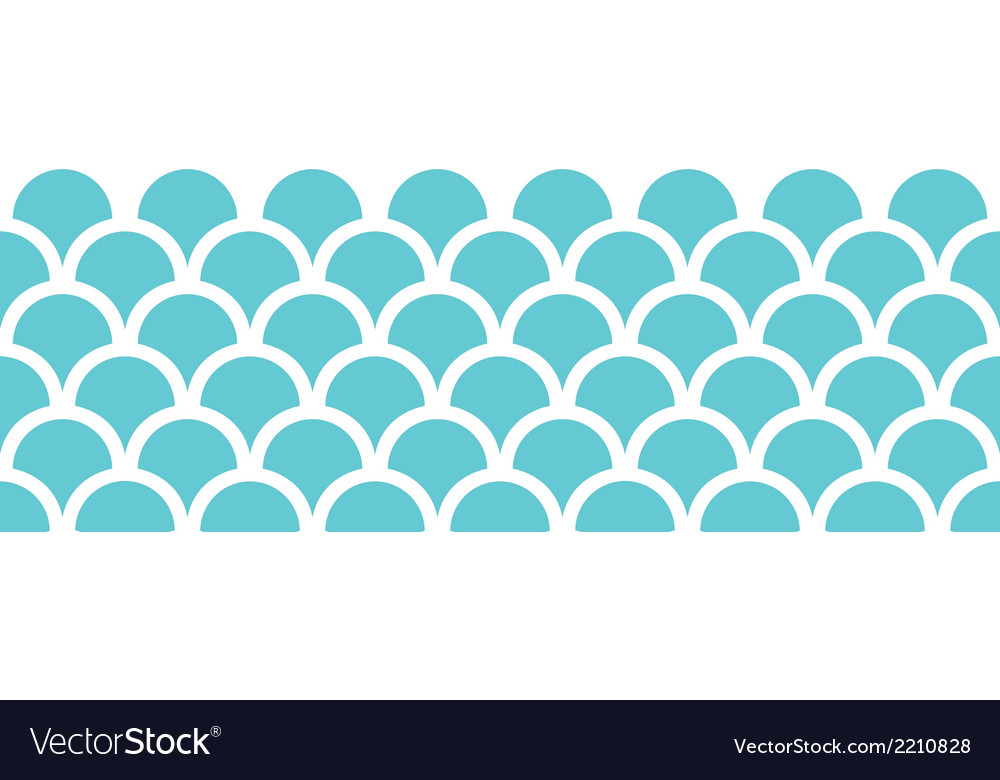 Abstract blue fishscale horizontal seamless vector | Price: 1 Credit (USD $1)