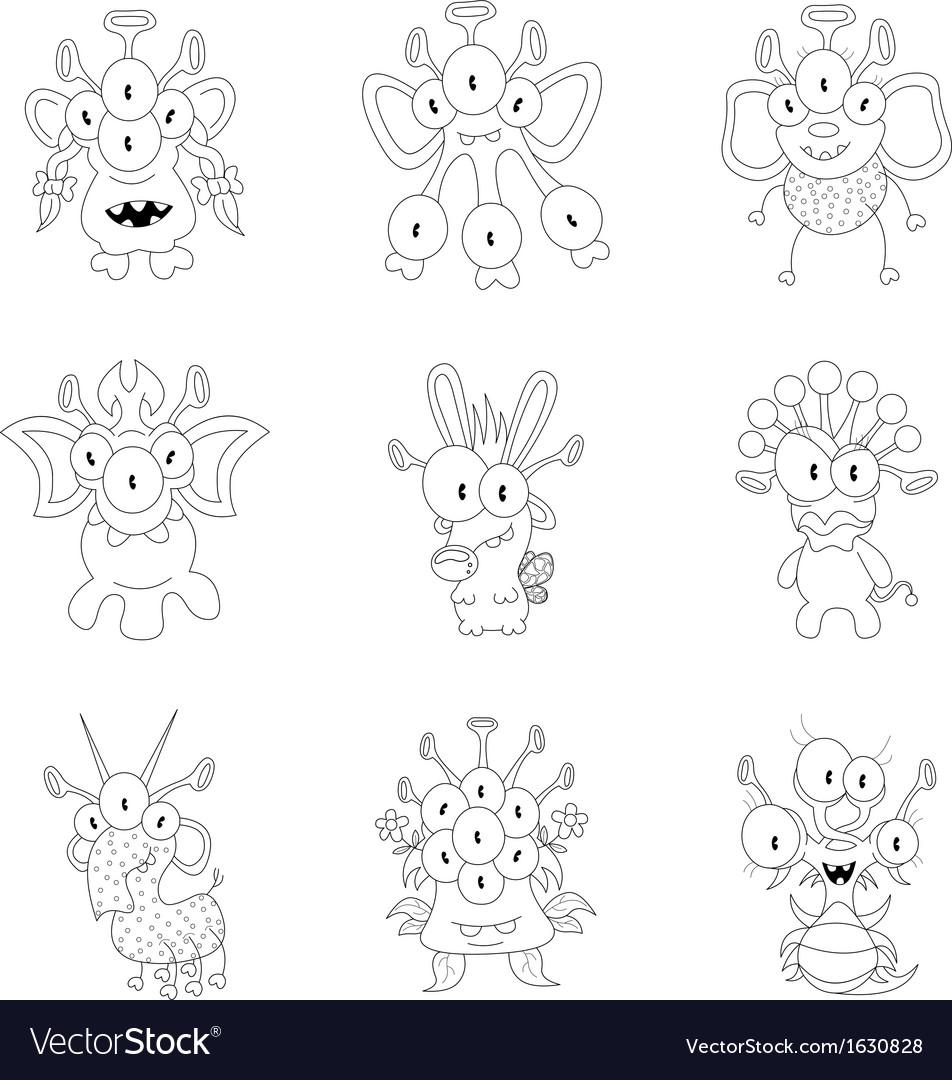 Cartoon monsters vector | Price: 1 Credit (USD $1)