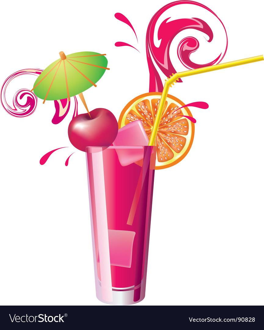 Cherry juice vector | Price: 1 Credit (USD $1)