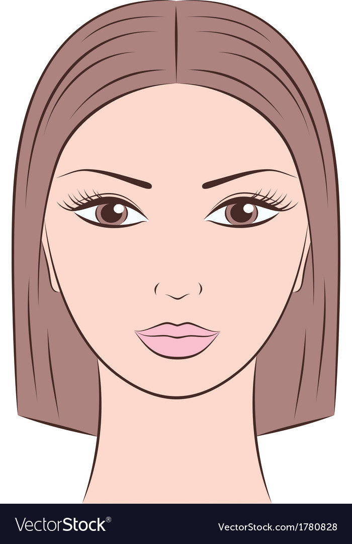 Female face vector | Price: 1 Credit (USD $1)
