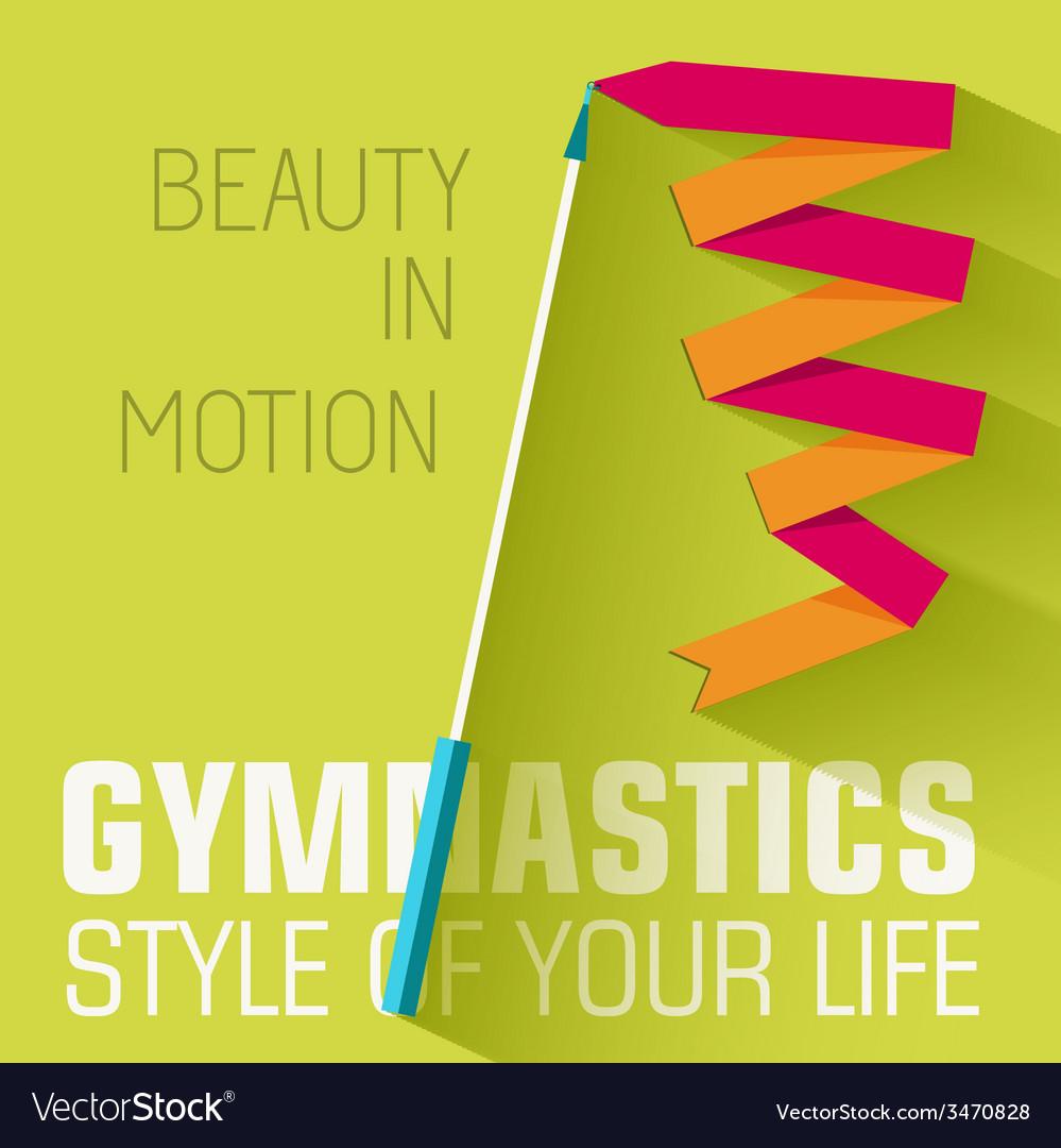 Flat sport gymnastics background concept de vector   Price: 1 Credit (USD $1)