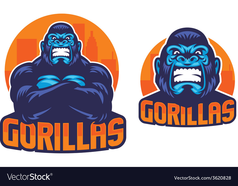 Gorilla pose vector | Price: 3 Credit (USD $3)