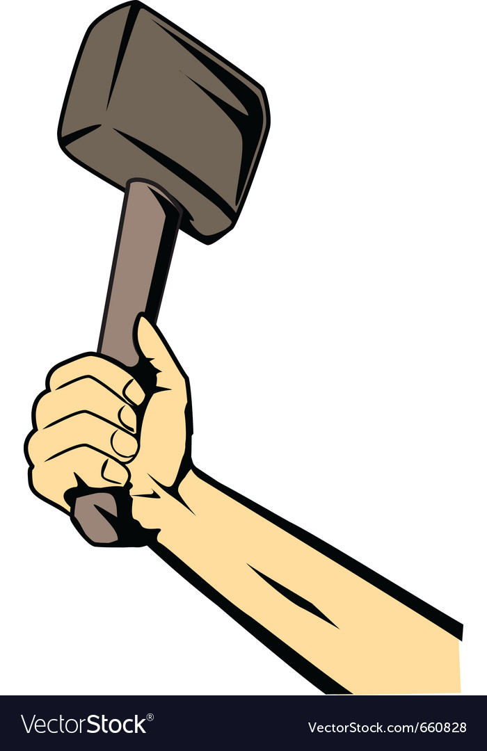 Hand with hammer vector | Price: 1 Credit (USD $1)