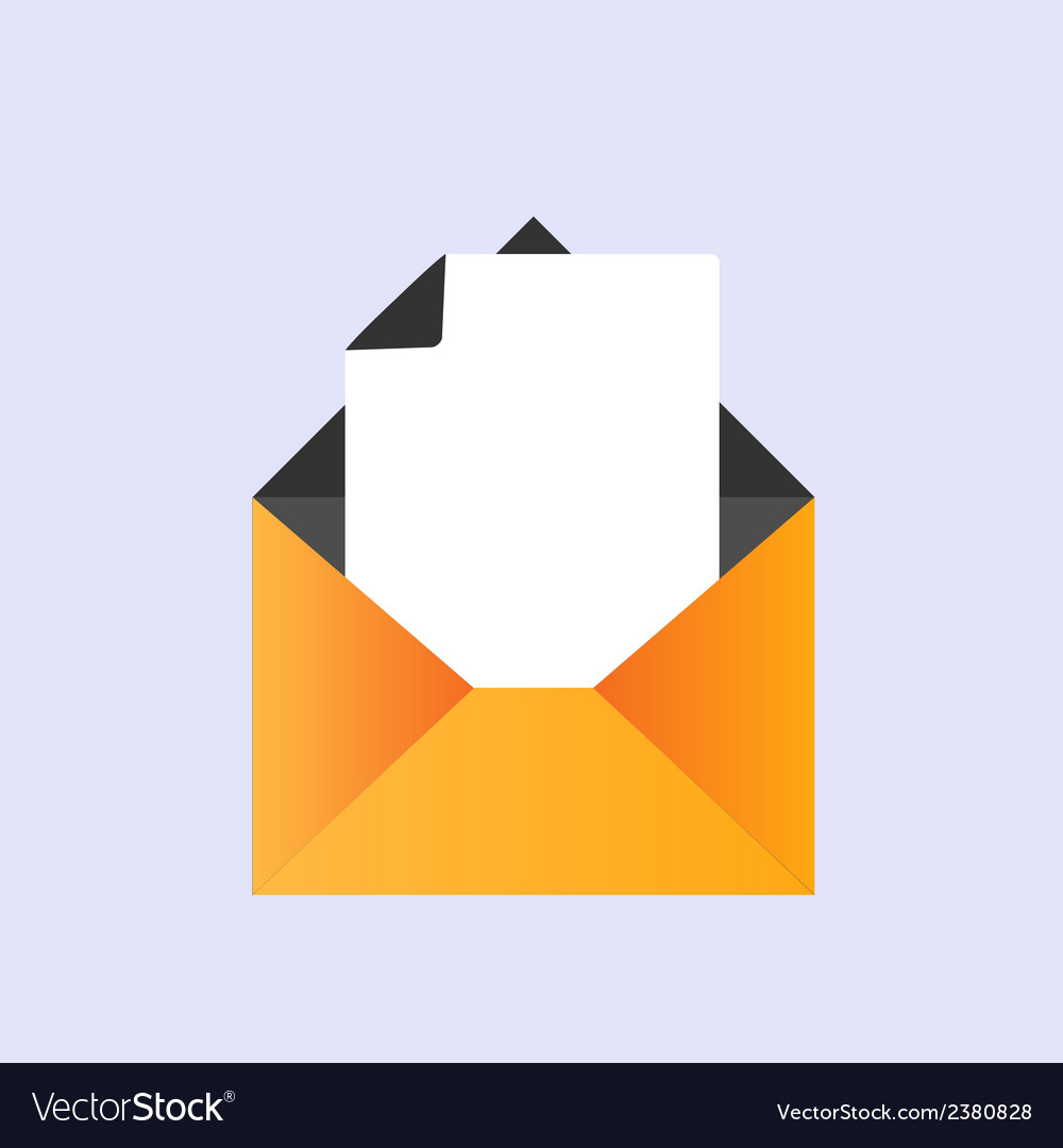 Icon and envelope paper sheet therein vector | Price: 1 Credit (USD $1)