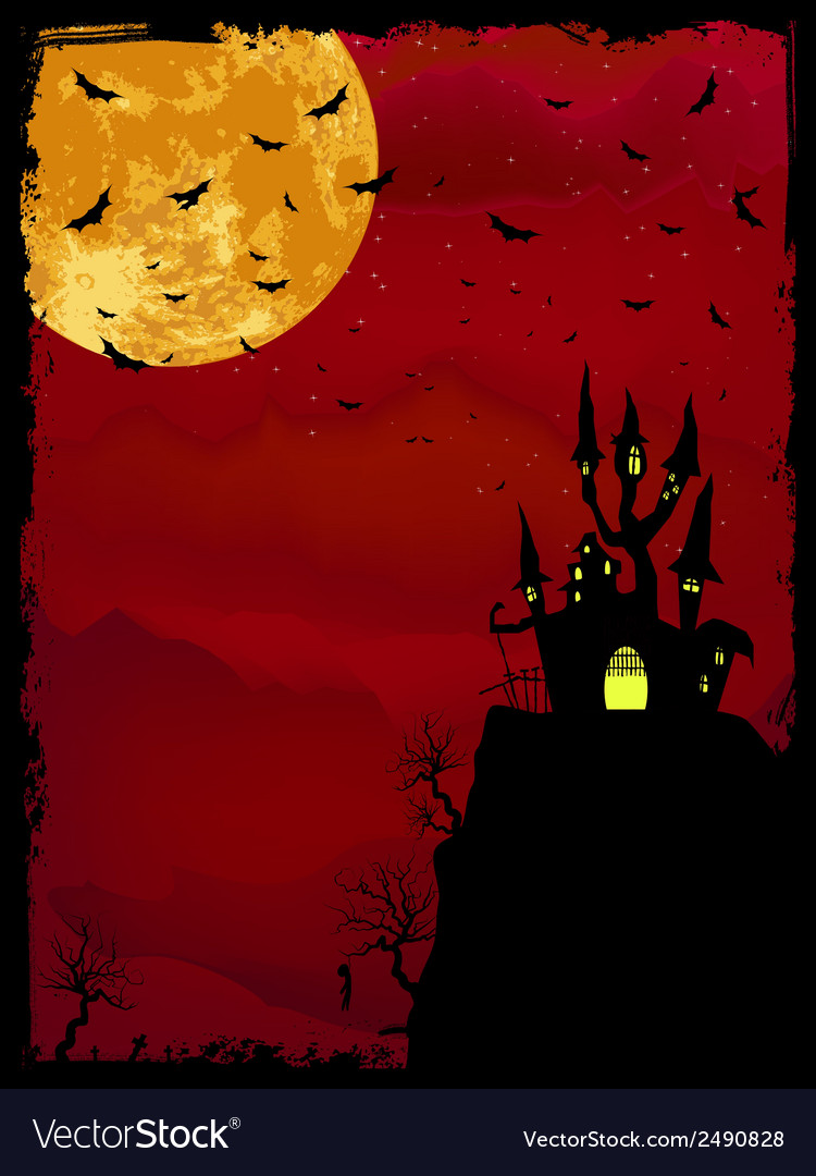 Spooky halloween with copy space eps 8 vector | Price: 1 Credit (USD $1)