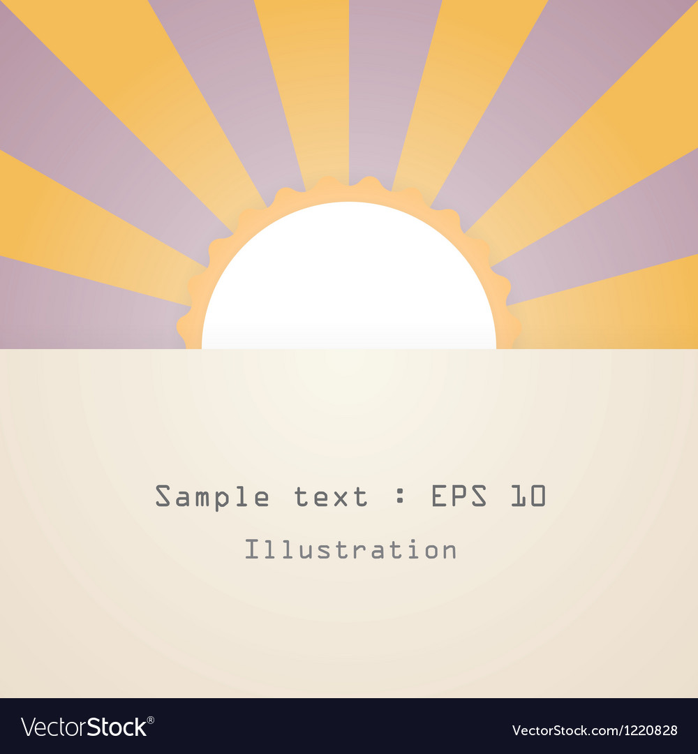 Sun and text vector | Price: 1 Credit (USD $1)