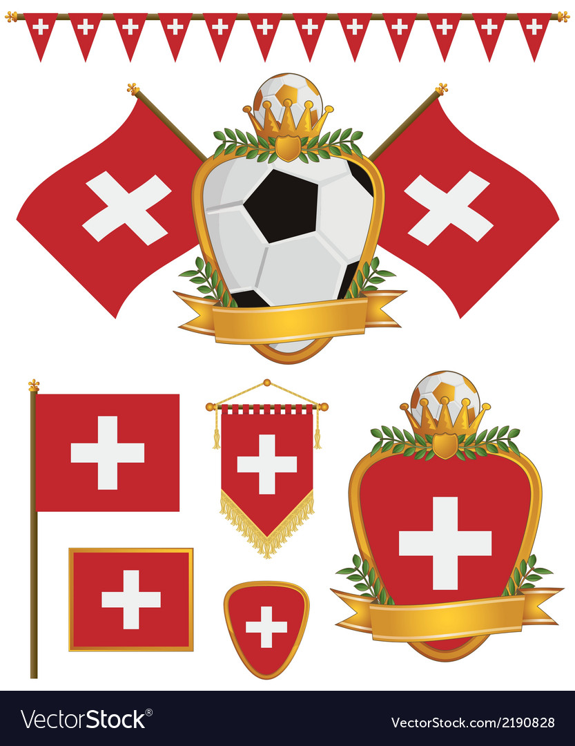 Switzerland flags vector | Price: 1 Credit (USD $1)