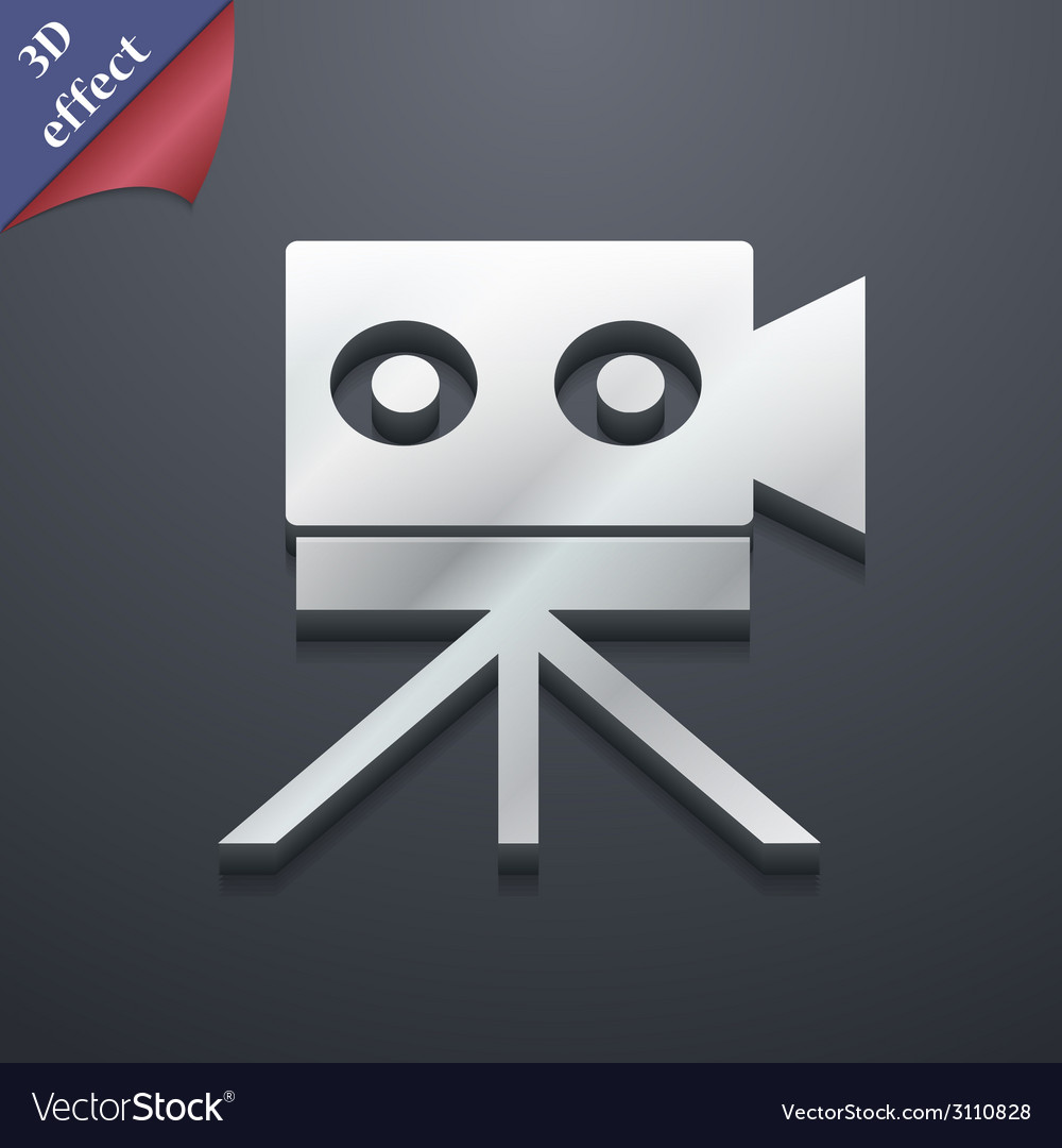 Video camera icon symbol 3d style trendy modern vector | Price: 1 Credit (USD $1)