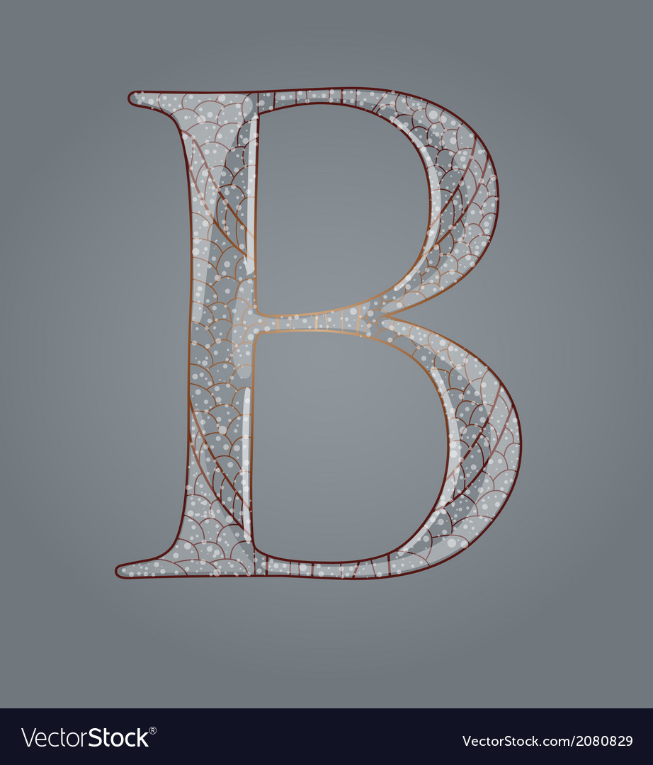 Abstract letter b vector | Price: 1 Credit (USD $1)
