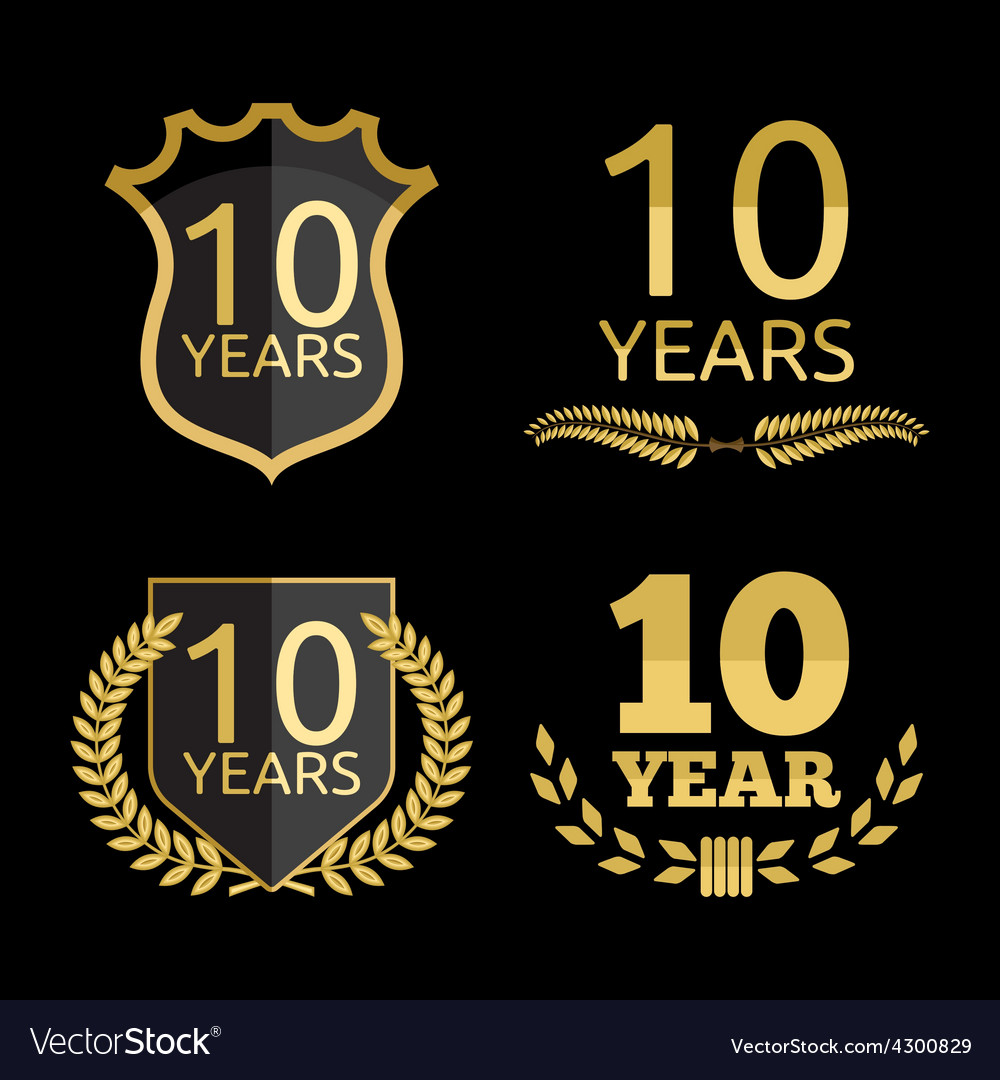 Anniversary set 10 years resize vector | Price: 1 Credit (USD $1)