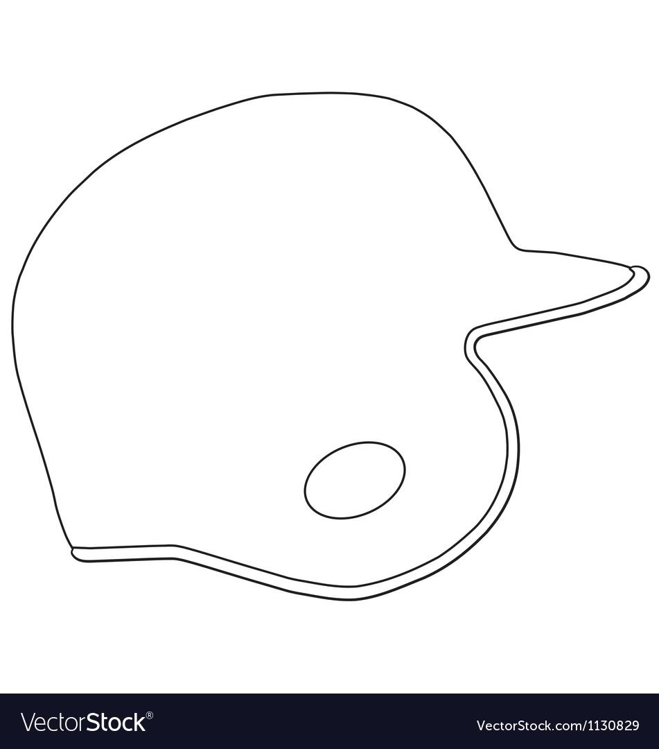 Baseball batting helmet vector | Price: 1 Credit (USD $1)