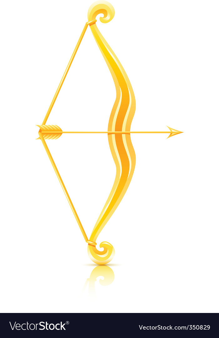 Bow with arrow vector | Price: 1 Credit (USD $1)