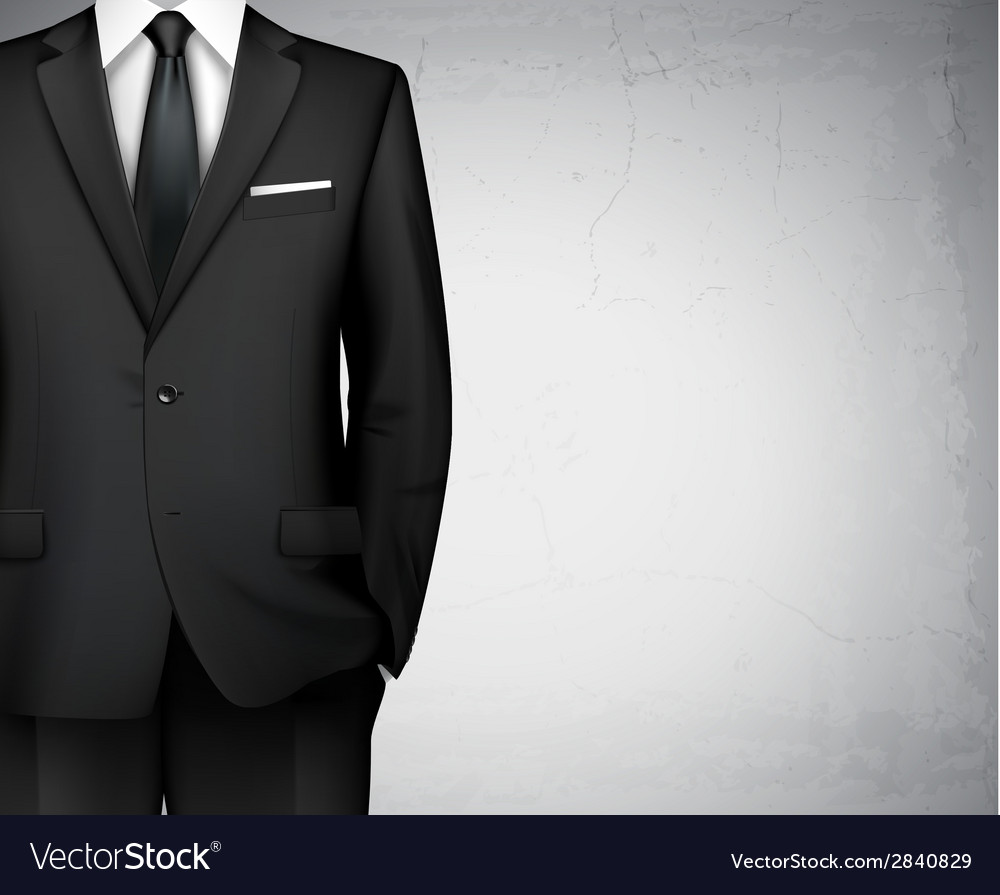 Businessman suit background vector | Price: 1 Credit (USD $1)