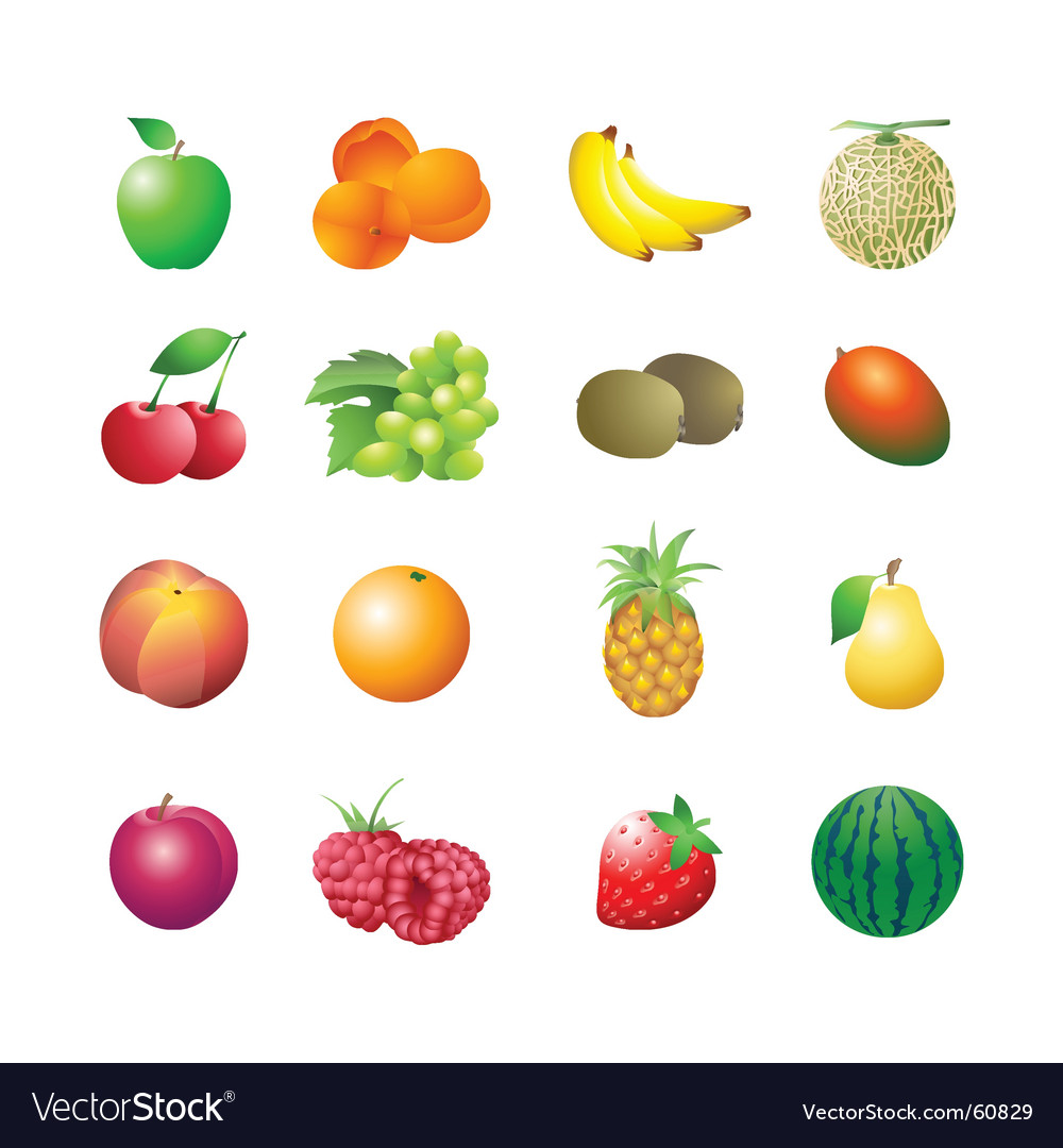 Calorie table fruits vector | Price: 1 Credit (USD $1)