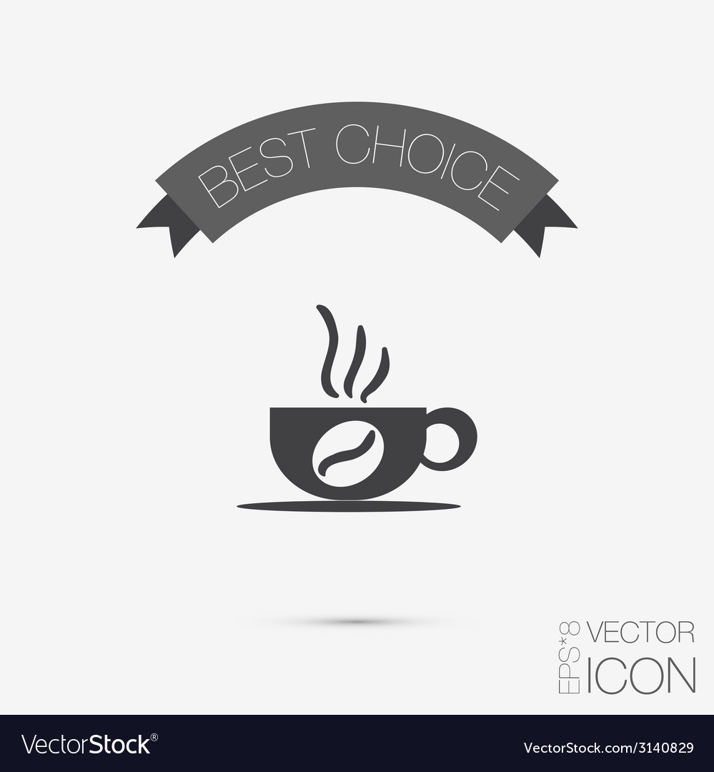 Cup of hot drink symbol of hot drink icon cafe or vector | Price: 1 Credit (USD $1)