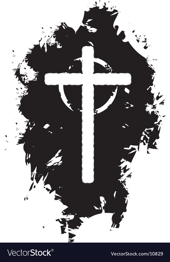 Grunge christian cross vector | Price: 1 Credit (USD $1)