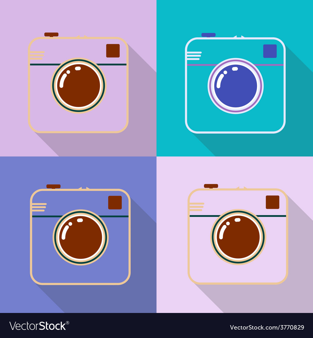 Hipster photo or retro camera icon with shadow vector | Price: 1 Credit (USD $1)