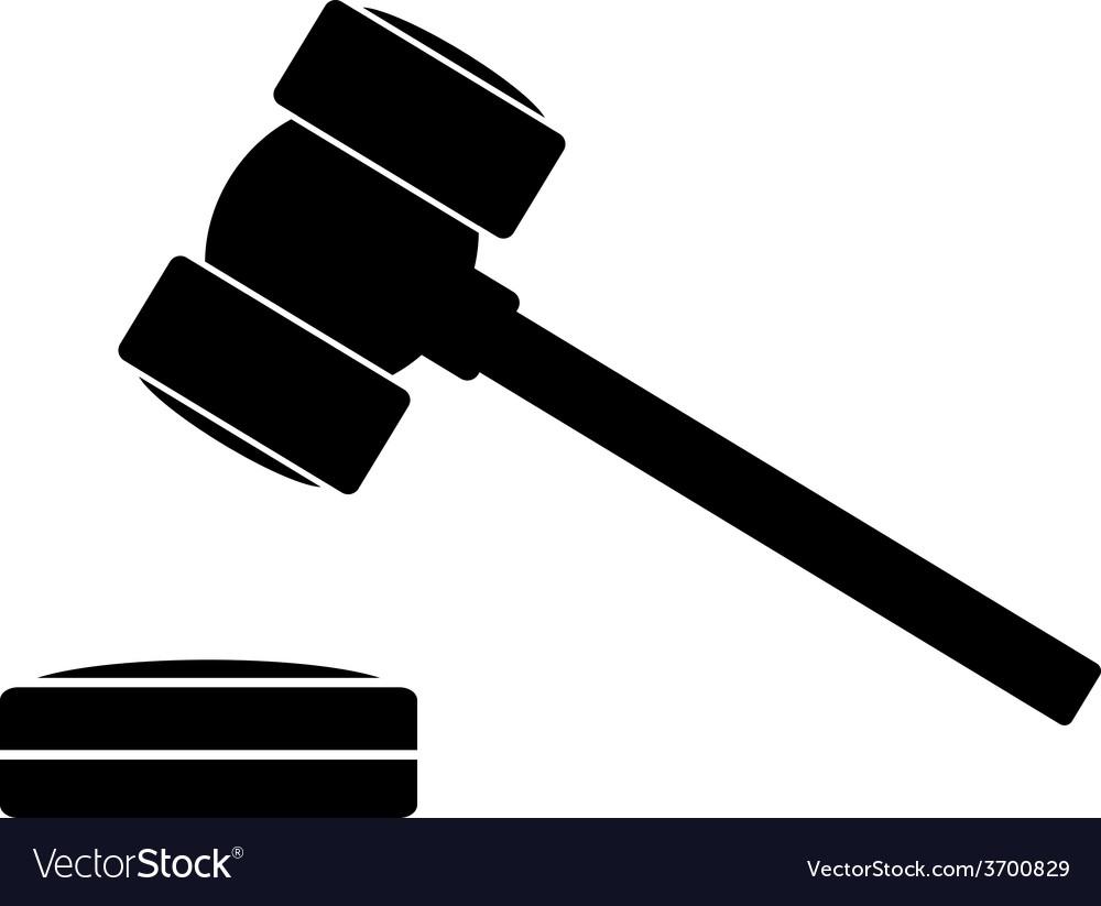 Judge gavel icon vector | Price: 1 Credit (USD $1)
