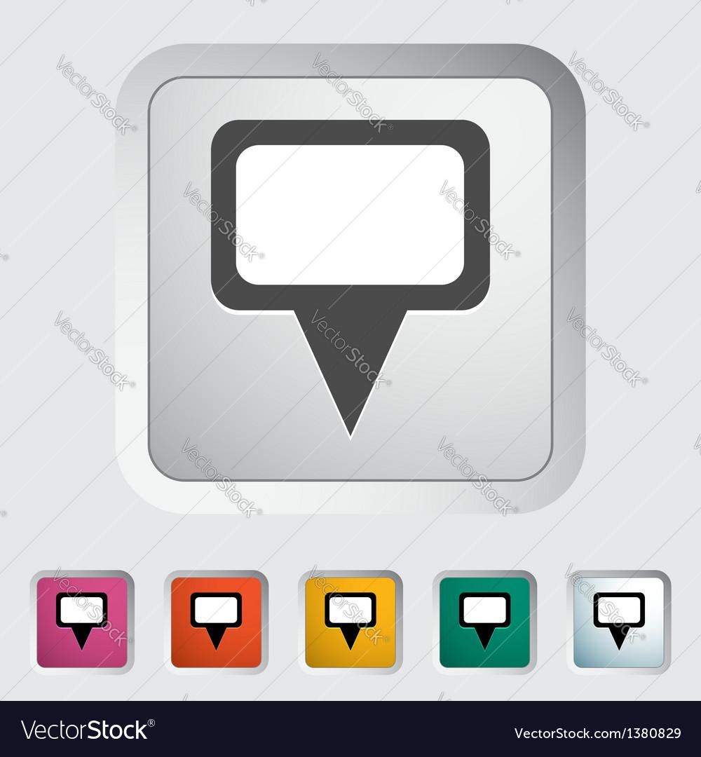Map pin single icon vector   Price: 1 Credit (USD $1)