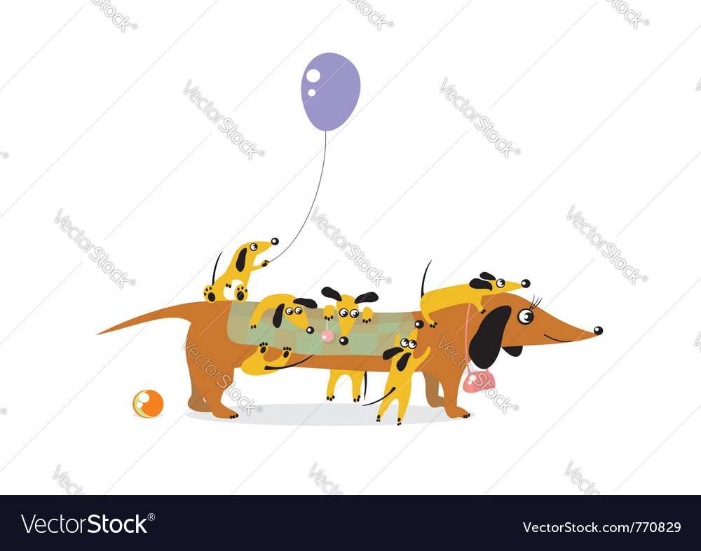 Mother dog vector | Price: 1 Credit (USD $1)