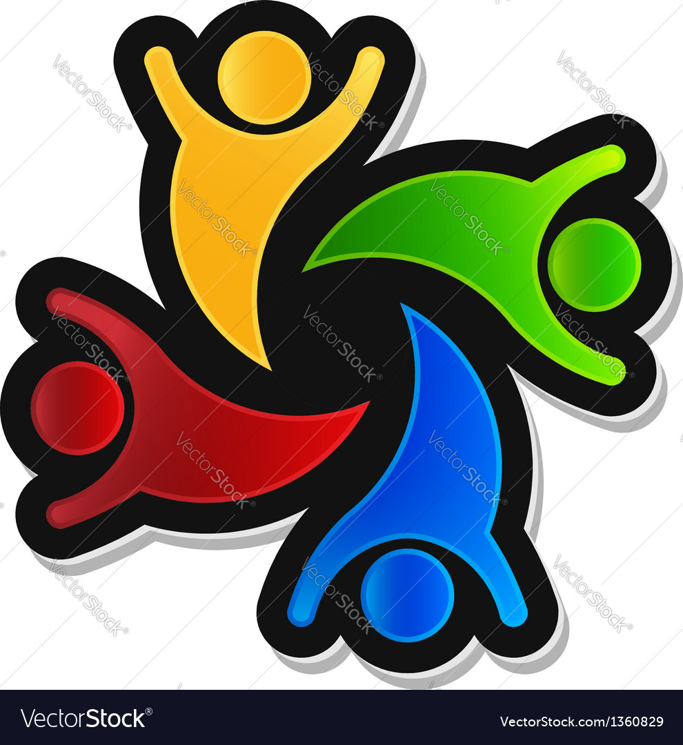 Teamwork party 4 logo design element vector | Price: 1 Credit (USD $1)