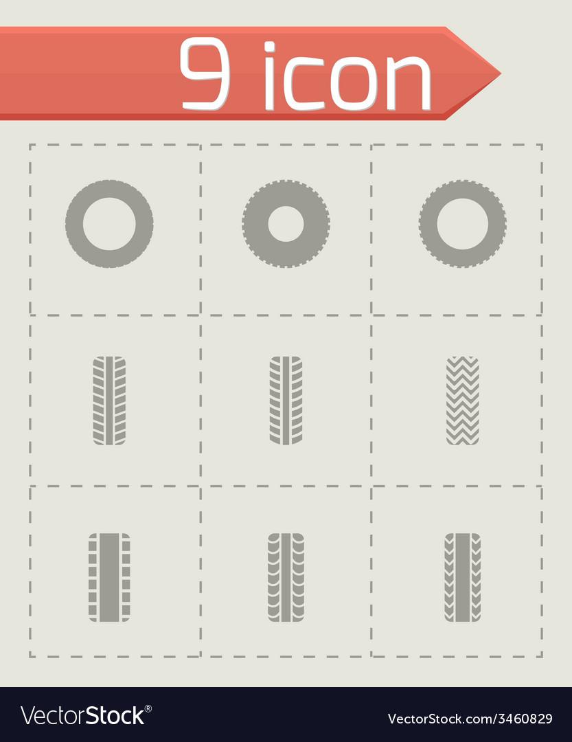 Tire icon set vector | Price: 1 Credit (USD $1)