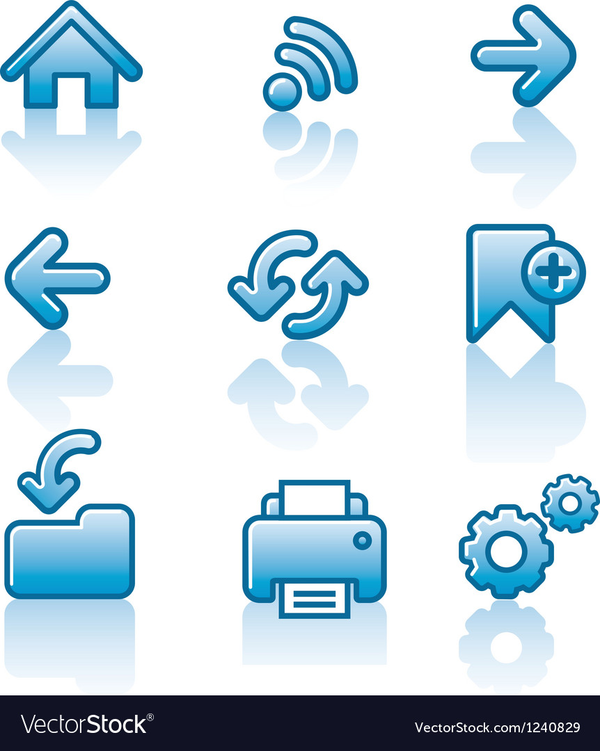 Web navigation icon set vector   Price: 1 Credit (USD $1)