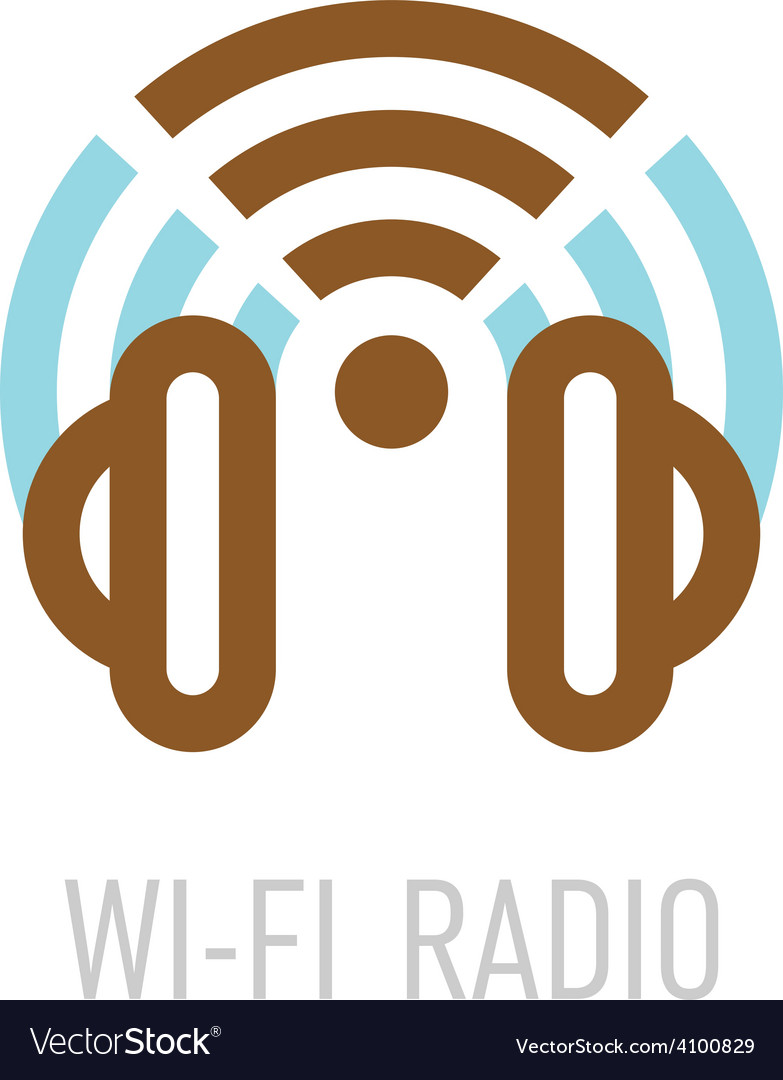 Wireless internet radio logo template with vector | Price: 1 Credit (USD $1)