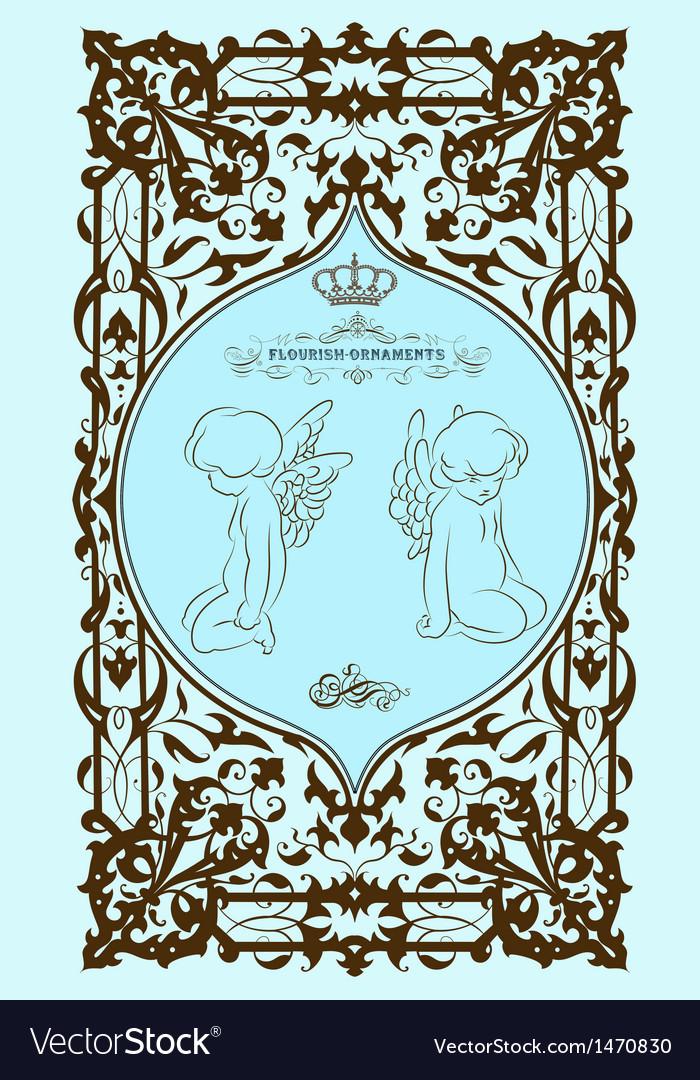 Baroque card vector   Price: 1 Credit (USD $1)