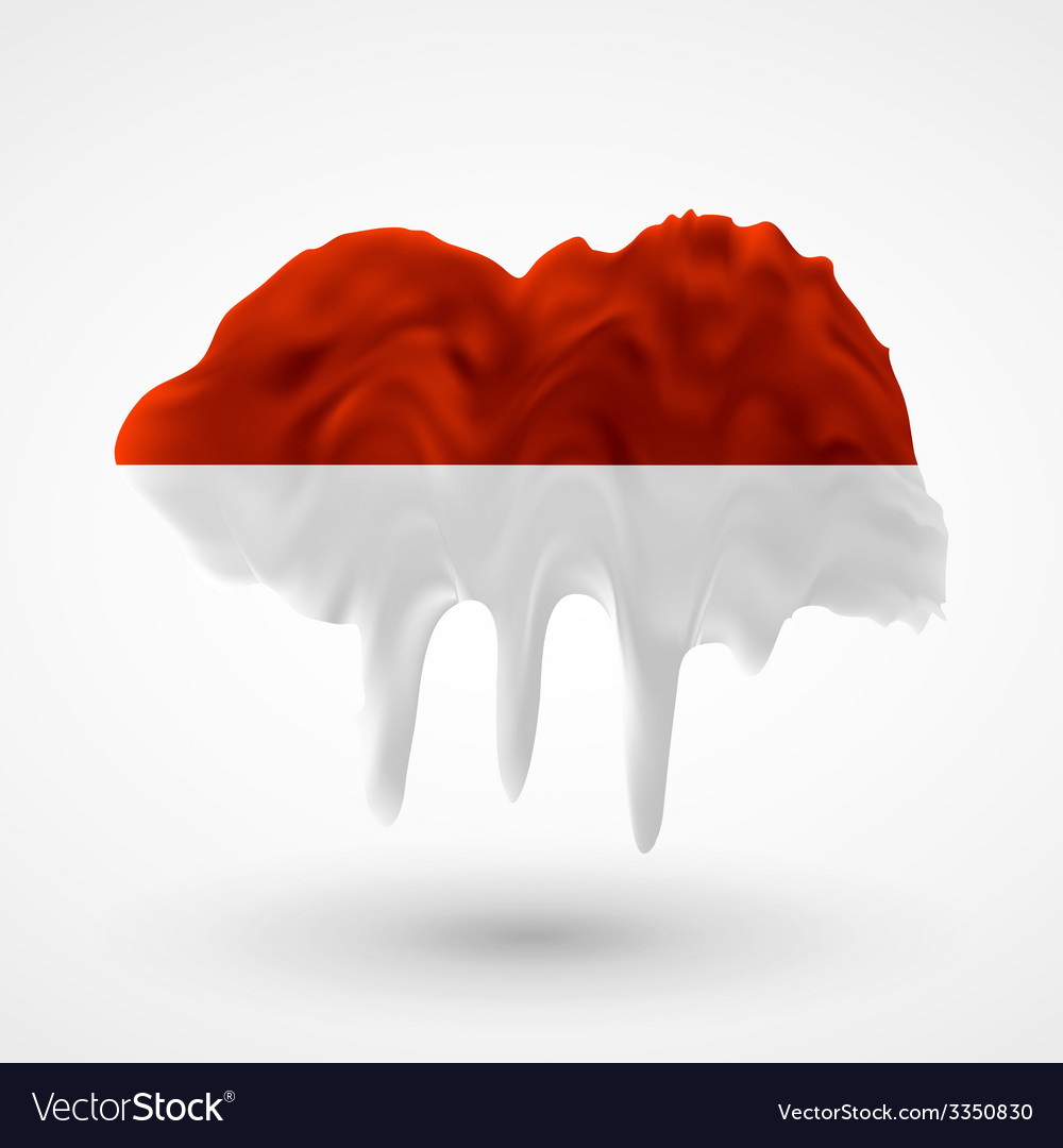 Flag of indonesia painted colors vector | Price: 3 Credit (USD $3)