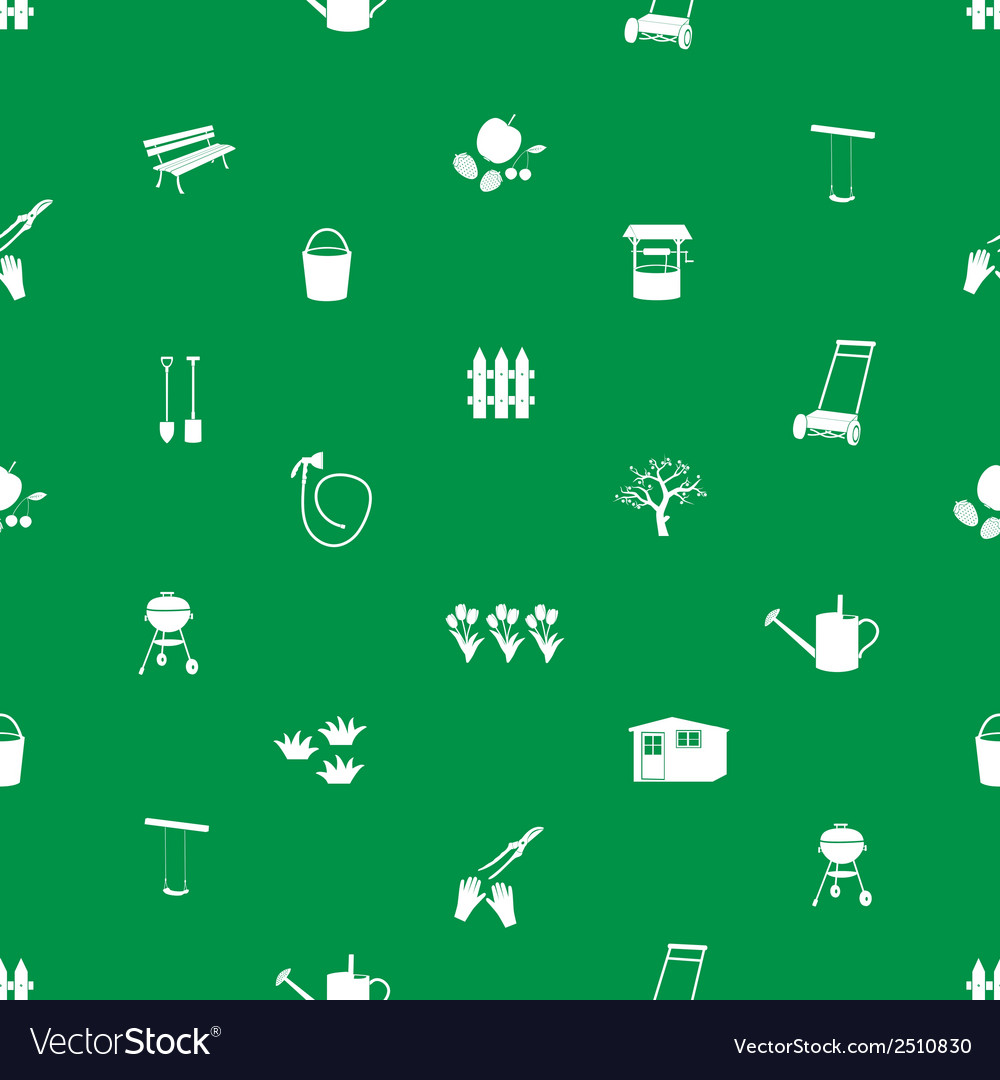 Garden symbols seamless pattern eps10 vector   Price: 1 Credit (USD $1)