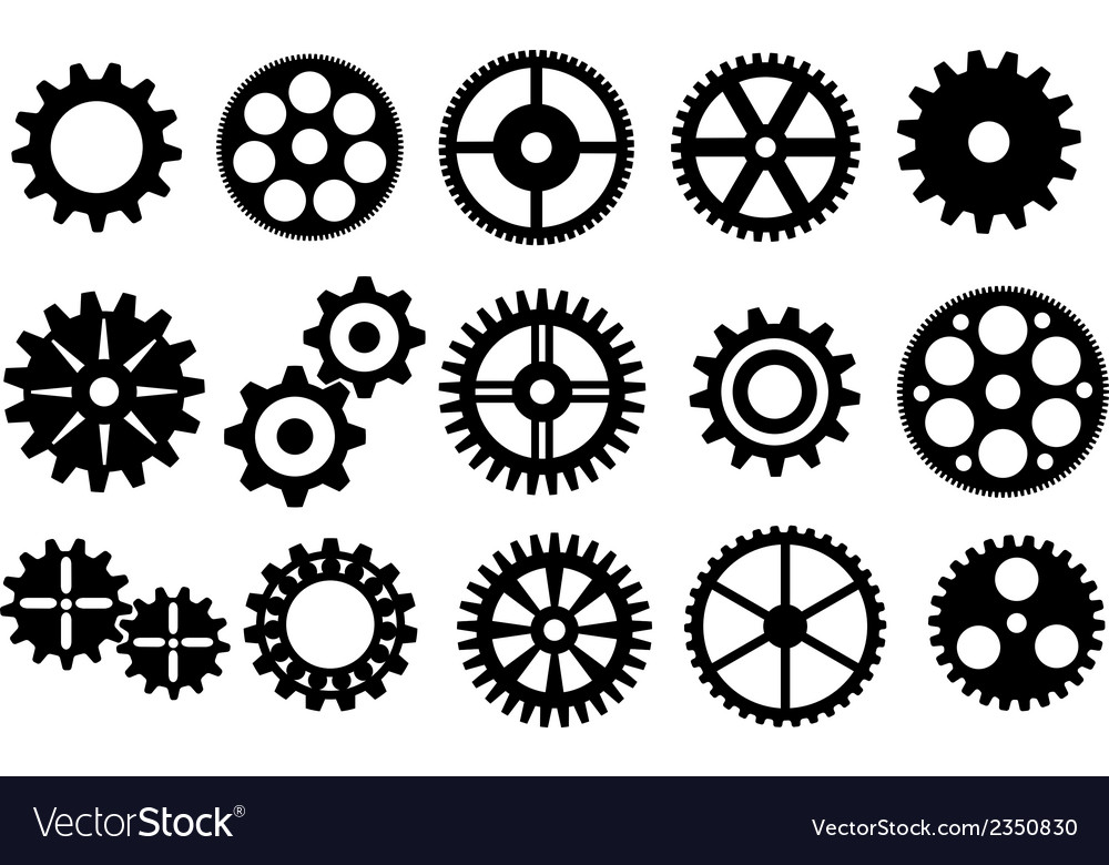 Gear set vector | Price: 1 Credit (USD $1)