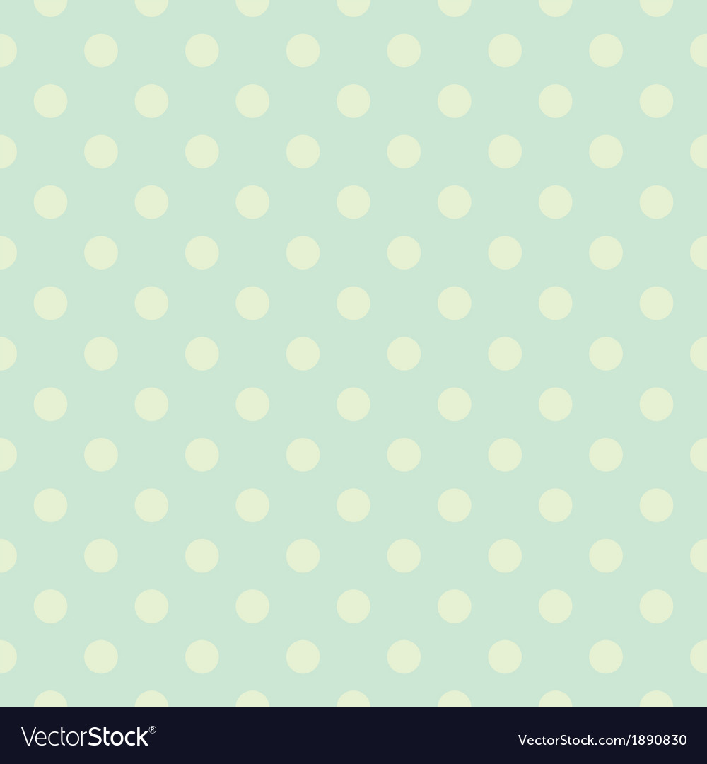 Seamless green polka dots pattern or background vector | Price: 1 Credit (USD $1)