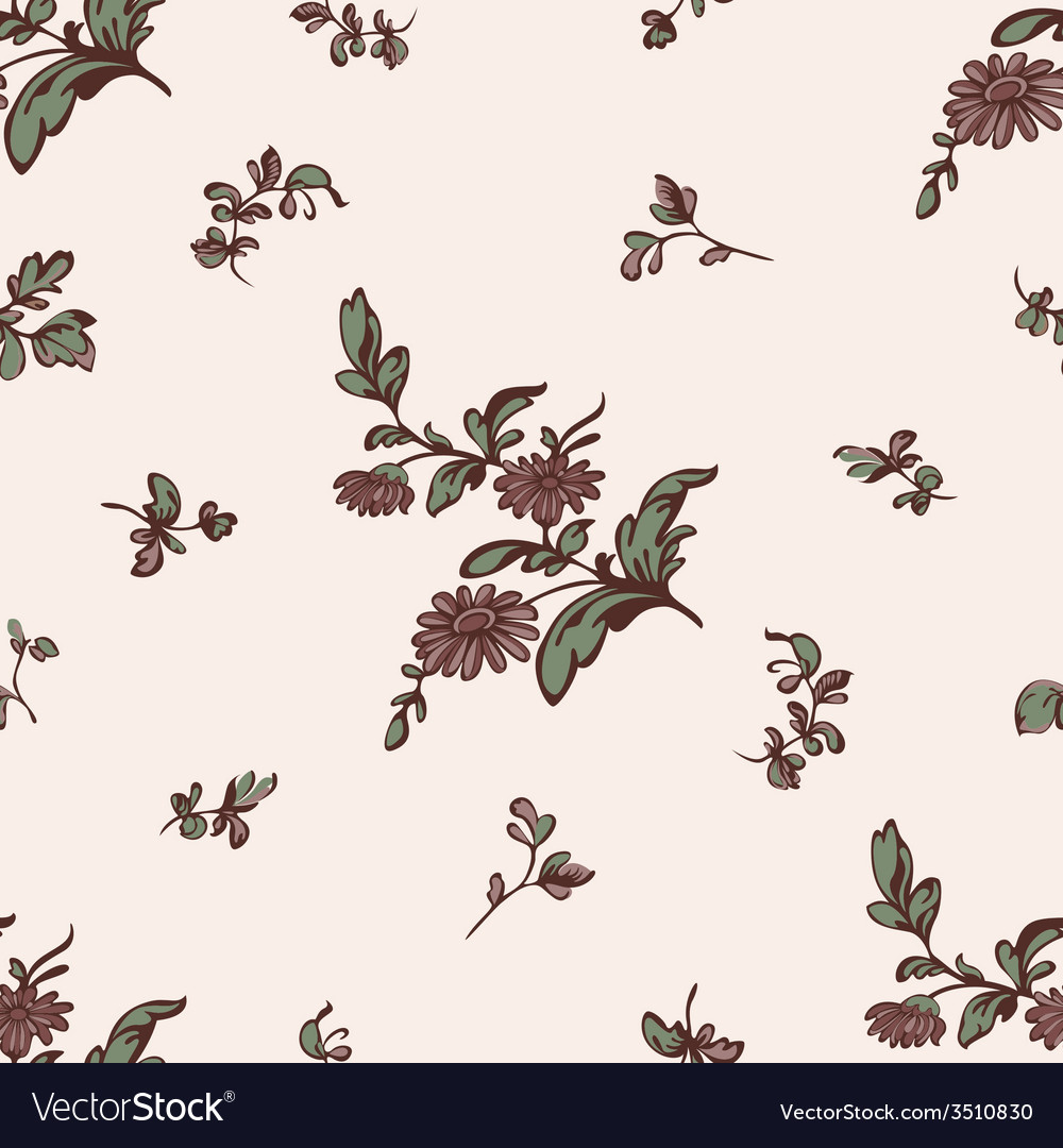 Seamless pattern brown flower vector | Price: 1 Credit (USD $1)