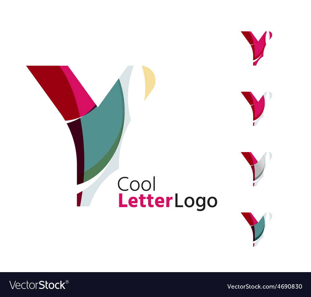 Set of abstract y letter company logos business vector | Price: 1 Credit (USD $1)