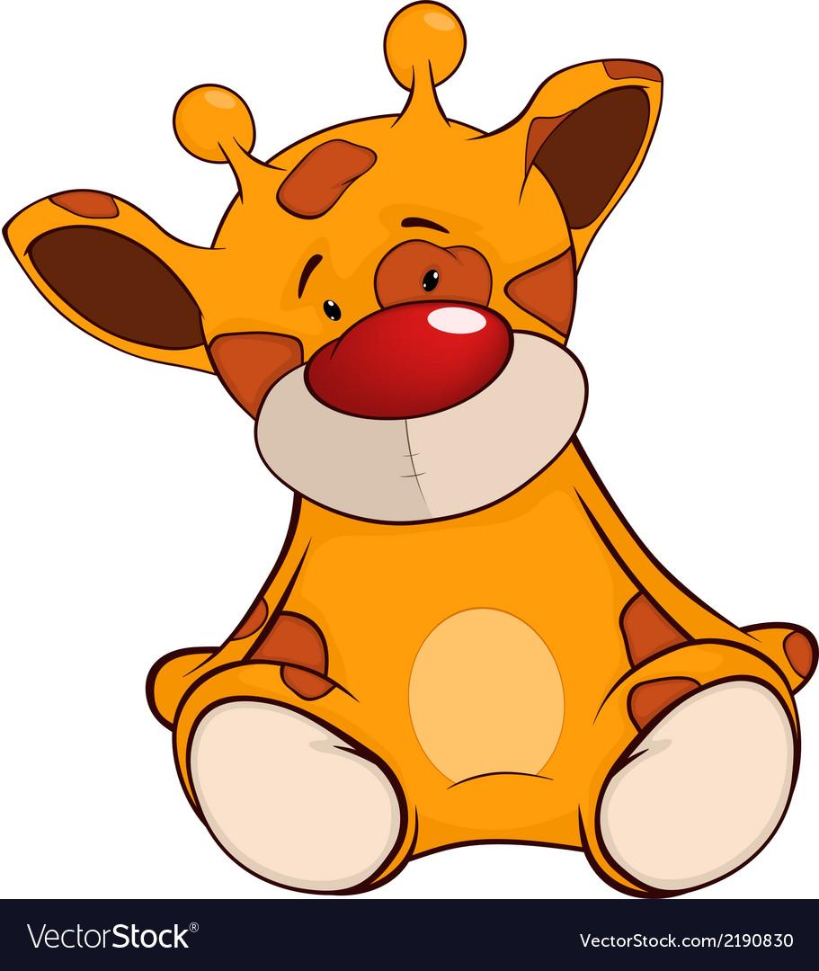 The stuffed toy giraffe cartoon vector | Price: 1 Credit (USD $1)