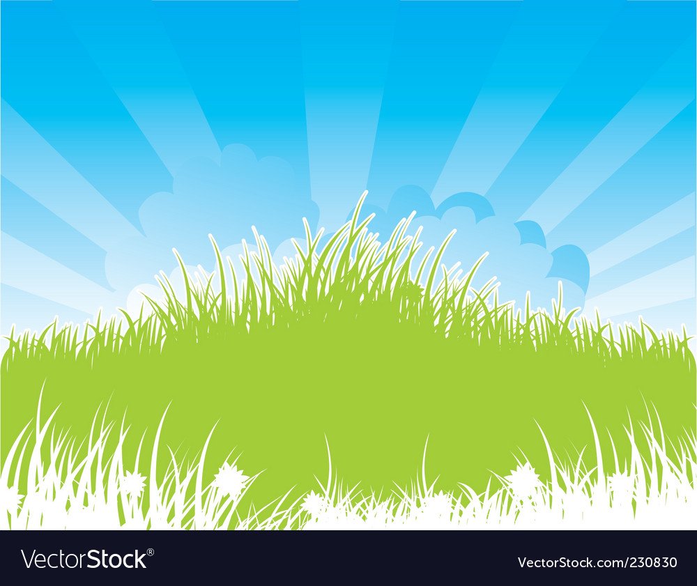 Summer back grass vector | Price: 1 Credit (USD $1)