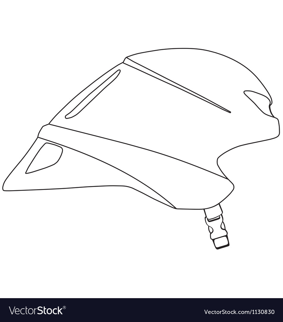 Time trial cycle helmet vector | Price: 1 Credit (USD $1)