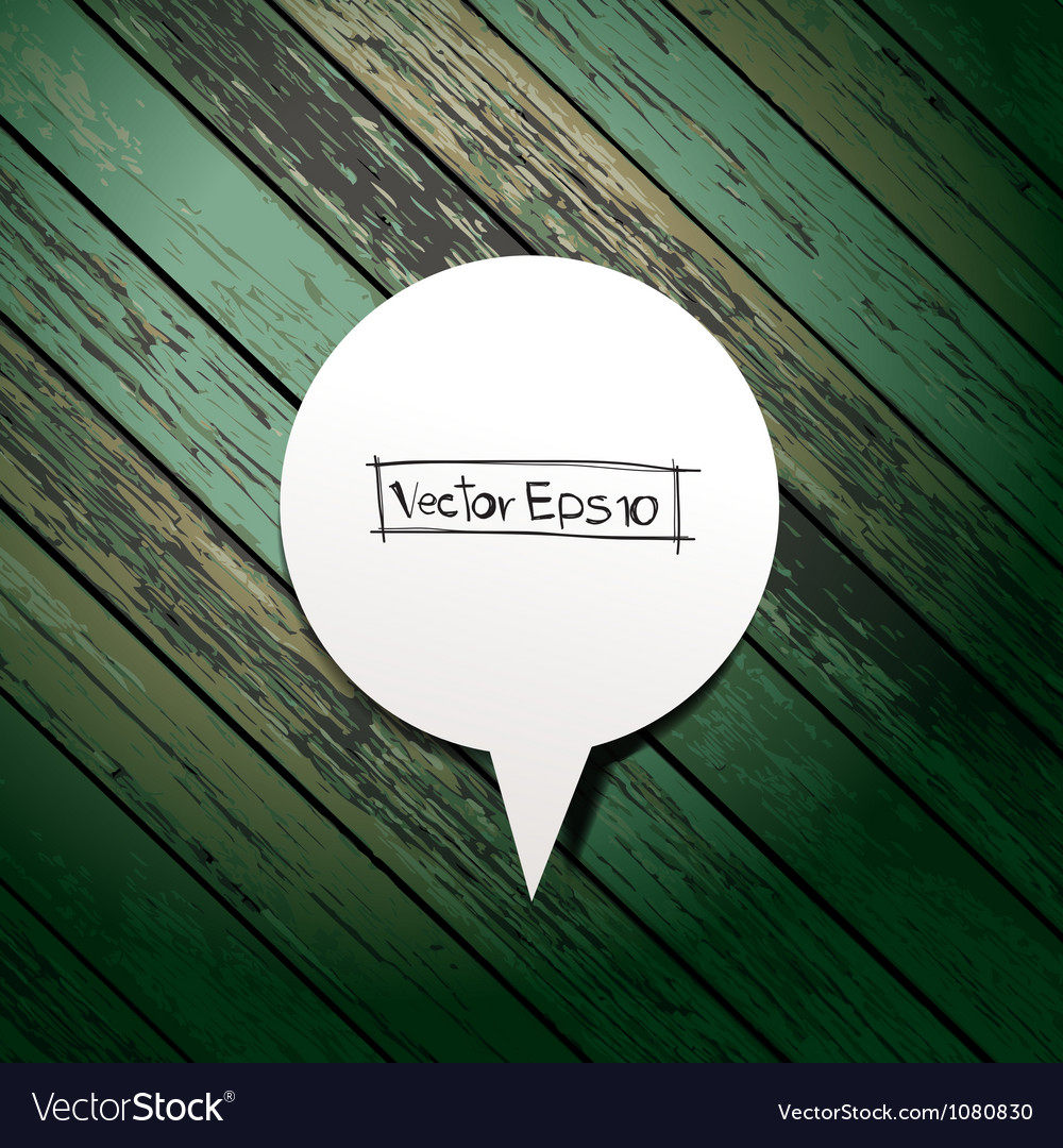 Wooden background with speech bubbles paper stick vector   Price: 1 Credit (USD $1)