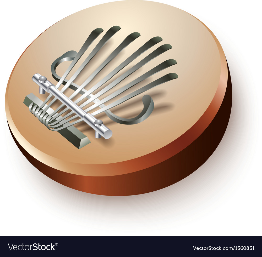African thumb piano mbira or kalimba vector | Price: 3 Credit (USD $3)